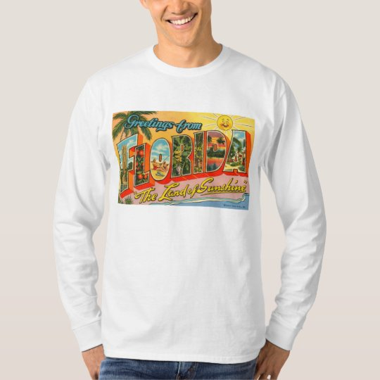 Greetings From Florida Vintage Postcard T-Shirt