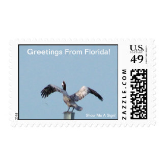 GREETINGS FROM FLORIDAseries-50% PROFIT TO SCHOOLS Stamp