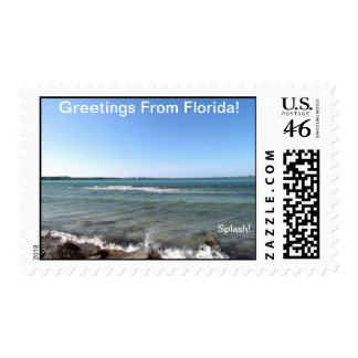 GREETINGS FROM FLORIDAseries-50 PROFIT TO SCHOOLS Postage Stamp