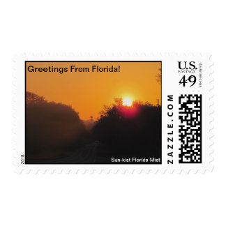 GREETINGS FROM FLORIDAseries-50% PROFIT TO SCHOOLS Postage Stamp