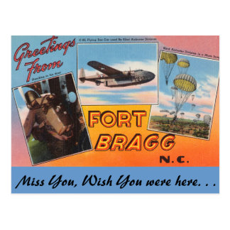 Greetings from Fort Bragg Postcard