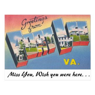 Greetings from Fort Lee, Virginia Postcard