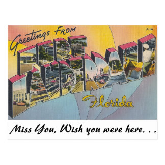 Greetings from Ft. Lauderdale, florida Postcard
