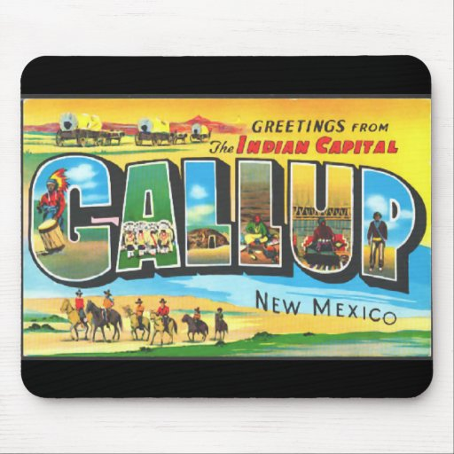 Greetings from Gallup Mouse Pad