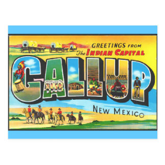 Greetings from Gallup Post Card