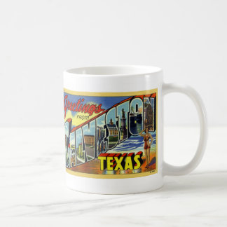 Greetings from Galveston Vintage Postcard Mug