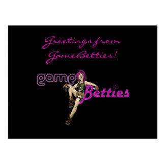 Greetings from GameBetties! Postcard