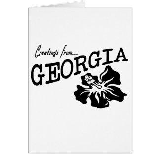 Greetings from Georgia Card