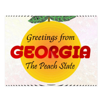 Greetings from Georgia Postcard