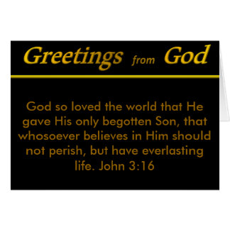 Greetings from God Greeting Card