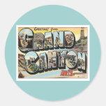 Greetings From Grand Canyon Arizona Classic Round Sticker