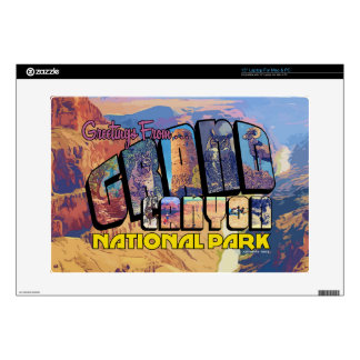 """Greetings From Grand Canyon National Park 15"""" Laptop Decals"""