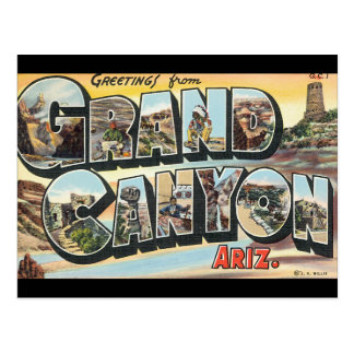 Greetings from Grand Canyon_Vintage Travel Poster Postcard