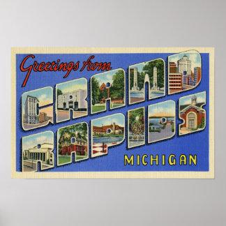 Greetings From Grand Rapids Michigan Poster