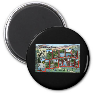 Greetings from Great Smokey Mountains 2 Inch Round Magnet