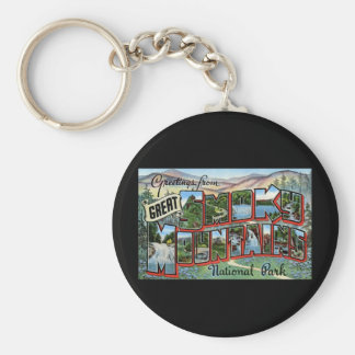 Greetings from Great Smokey Mountains Basic Round Button Keychain