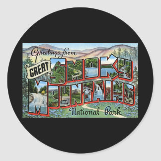 Greetings from Great Smokey Mountains Classic Round Sticker