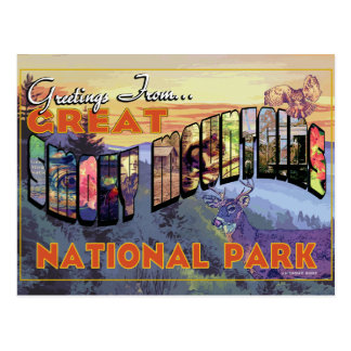 Greetings From Great Smoky Mountains National Park Postcard