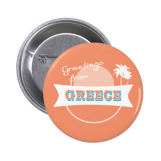 Greetings from Greece badge Pinback Button