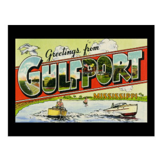Greetings from Gulfport Mississippi Postcard