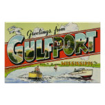 Greetings from Gulfport Mississippi Poster
