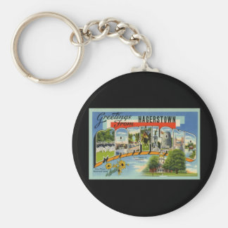 Greetings from Hagertown Maryland Basic Round Button Keychain