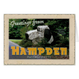 Greetings from Hampden MA (Puppy rock) Stationery Note Card