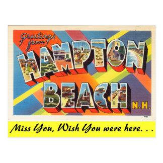 Greetings from Hampton Beach Postcard