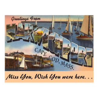 Greetings from Harwichport Postcard