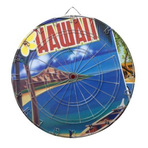 Greetings From Hawaii Dartboards