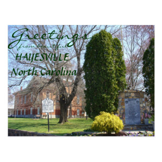 Greetings from Hayesville North Carolina Post Card