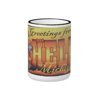 Greetings From Hell, Michigan Mug 1