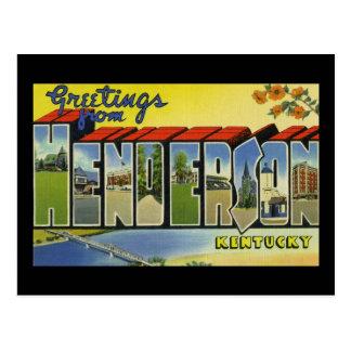 Greetings from Henderson Kentucky Postcard