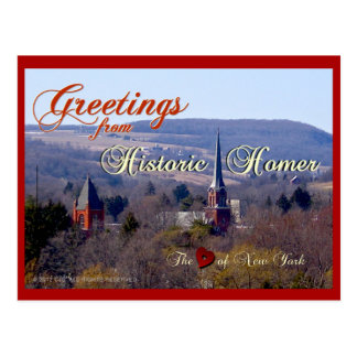 Greetings from Historic Homer Postcard
