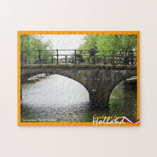 Amsterdam jigsaw puzzles zazzle greetings from holland amsterdam bridge jigsaw puzzle m4hsunfo