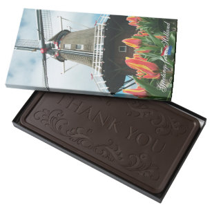 Greeting chocolate boxes zazzle greetings from holland tulip mill dark chocolate bar m4hsunfo
