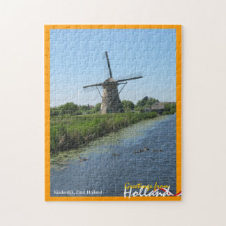 Greetings from Holland Windmill and Ducks Puzzle