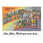 Greetings from Hollywood Beach, Florida Postcard