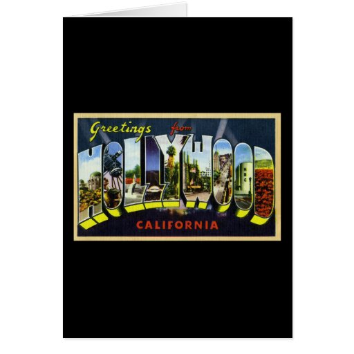 Greetings from Hollywood California Greeting Card
