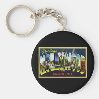 Greetings from Hollywood California Keychain