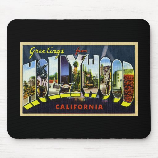 Greetings from Hollywood California Mouse Pad