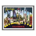 Greetings From Hollywood California Post Cards