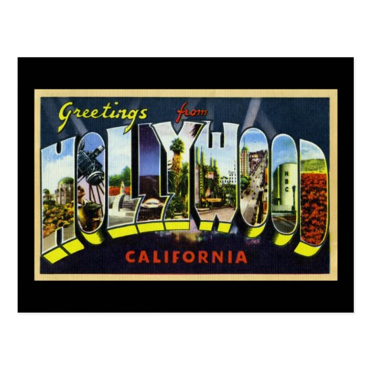 Greetings from Hollywood California Postcard