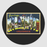 Greetings from Hollywood California Round Stickers