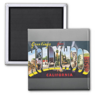 Greetings From Hollywood California, Vintage Refrigerator Magnet