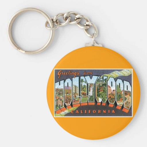 Greetings from Hollywood! Keychain