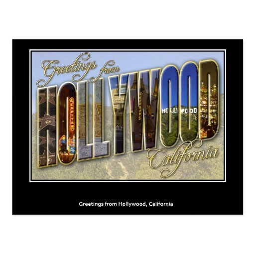 Greetings from Hollywood Postcard