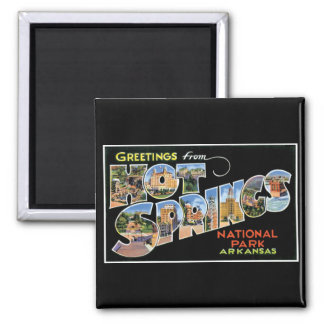 Greetings from Hot Springs! 2 Inch Square Magnet