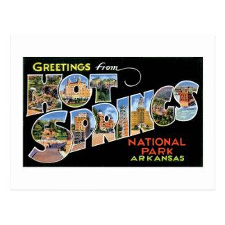 Greetings from Hot Springs! Postcard