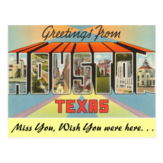 Greetings from Houston Postcard